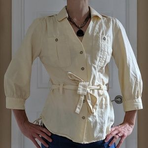 Triple Five Soul Small 3/4 length Blouse with Belt
